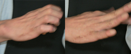 独特の指使い